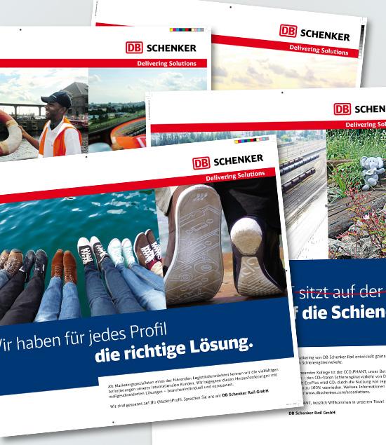 Plakate für Auszubildende bei DB Schenker